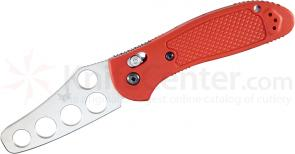 Benchmade 550T Griptilian Trainer 3.45 inch Unsharpened Blade, Red Handles