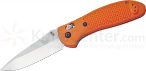 Benchmade 551ORG Griptilian 3.45 inch Satin Drop Point Plain Blade, Orange Handle