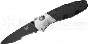 Benchmade 581SBK Barrage AXIS-Assisted 3.6 inch M390 Black Combo Blade, G10 and Aluminum Handles