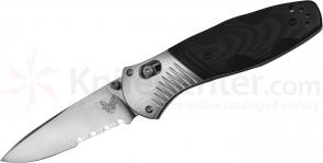 Benchmade 581S Barrage AXIS-Assisted 3.6 inch M390 Satin Combo Blade, G10 and Aluminum Handles