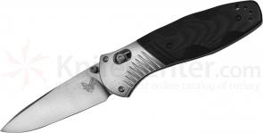 Benchmade 581 Barrage AXIS-Assisted 3.6 inch M390 Satin Plain Blade, G10 and Aluminum Handles