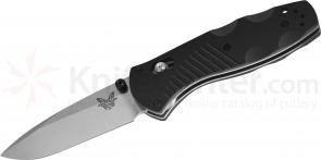 Benchmade 585 Mini-Barrage AXIS-Assisted 2.91 inch Satin Plain Blade, Valox Handles
