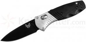 Benchmade 586BK Mini-Barrage AXIS-Assisted 2.91 inch M390 Black Plain Blade, G10 and Aluminum Handles