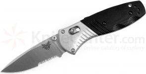 Benchmade 586S Mini-Barrage AXIS-Assisted 2.91 inch M390 Satin Combo Blade, G10 and Aluminum Handles