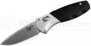 Benchmade 586 Mini-Barrage AXIS-Assisted 2.91 inch M390 Satin Plain Blade, G10 and Aluminum Handles