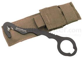 Benchmade 8 Rescue Hook Strap Cutter, Soft Coyote Sheath