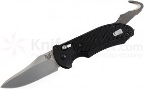 Benchmade 9170 AUTO AXIS Triage Rescue Folder 3.58 inch Satin Plain Blade, Aluminum with Black G10 Inlays