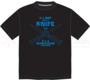 Benchmade 988068F  inchIt's Not Just a Knife inch T-Shirt, Medium