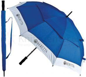 Beretta Competition Umbrella 38-1/2 inch Overall, 2-Tone Blue and White, Nylon Carry Case