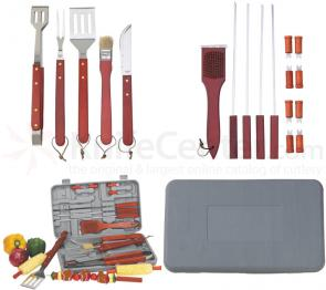Maxam Chefmaster 19 Piece Barbeque Tool Set Compact size