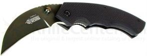 BLACKHAWK! Garra II Black Folder, 3 inch Hawkbill Plain Blade, G-10 Handle
