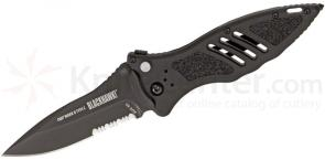 BLACKHAWK! CQD Mark II Type E Folding Knife 3.3 inch Combo Blade, Nylon Handles