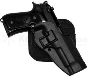 Blackhawk CF Holster w/BL & Paddle, Serpa, RH,  Black, Fits Glock 17/22