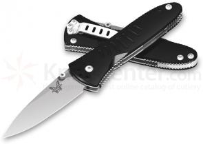 Benchmade Aphid™ Linerlock 2.38 inch Assisted Satin Finish Plain Edge Blade