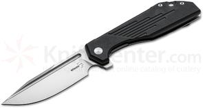 Boker Plus JB Stout Lateralus Flipper 3.5 inch D2 Stonewashed Blade, Black G10 with Stainless Steel Back Handles