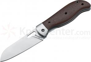 Boker Magnum Outdoor Cuisine IV Folding Knife 4-3/8 inch Santoku Style Blade, Rosewood Handles (01MB457)
