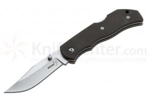 Boker Plus Optima Folding Knife Interchangeable 3-1/2 inch Drop Point Blade and Saw, Black G10 Handles (01BO103)
