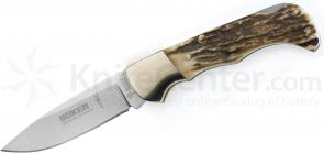 Boker Folding Hunter 3 inch Blade, Stag Handles 110135HH