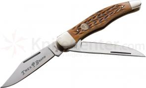 Boker Traditional Series Folding Hunter Jigged Brown Bone Handles 5-1/4 inch Closed