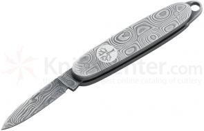 Boker Medallion Damascus Miniature Pocket Knife 1-5/8 inch Closed (111059DAM)