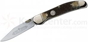 Boker Copperliner Folding Knife 2-5/8 inch Satin Blade, Stag Handles