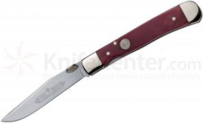 Boker Trapperliner Pocket Knife 3-1/4 inch Blade, Red Bone Handles (114711)