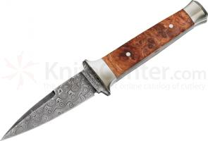 Boker Leo Damascus® Boot Knife 3-1/4 inch 300 Layer Damascus Steel Blade Presentation/Gift Box