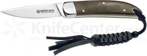 Boker Beauty Fixed Knife 2-1/2 inch N690BO Blade, Micarta Handles