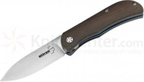 Boker Plus Exskelimoor II Folding Knife 2-7/8 inch Blade, Wood Handles (01BO005)
