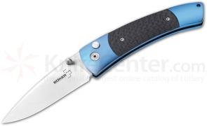 Boker Plus Titanium Blues Gentleman's Folding Knife 2-1/2 inch Blade, Carbon Fiber Handles