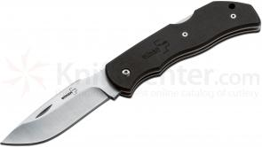 Boker Plus Optima Europe Folding Knife Interchangeable 3-1/2 inch Blade, Black G10 Handles (01BO105)