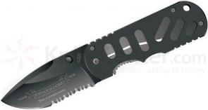 Boker Plus Chad Hyper  inchJustice Is Done inch Special Run, 2-3/4 inch Black Combo Blade, G10 Handles