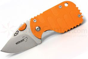 Boker Plus CLB Subcom Dawn Folding Knife 1-7/8 inch Satin Plain Blade, Orange FRN Handle (01BO579)