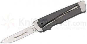 Boker Plus Boker-Matic OTF 3 inch Blade, Gray FRN Handles (NOT an Automatic)