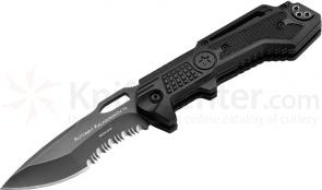 Boker Plus Kalashnikov 10 Folding Knife 3-1/2 inch Combo Spear Point Blade, Aluminum Handles