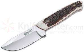 Boker Arbolito Stag Skinner Fixed 3-1/4 inch N695 Steel Blade, Stag Handles
