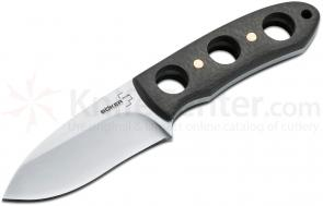 Boker Plus Fitz Neck Knife Fixed 2-1/2 inch Blade, Carbon Fiber Handles, Kydex Sheath (02BO278)