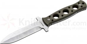Boker Plus Steel Ranger Fixed 4 inch Single Edge Spear Point Blade, G10 Handles