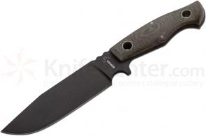 Boker Plus VoxKnives Rold Black Knife 6-1/8 inch D2 Powder Coated Blade, Micarta Handles (02BO292)