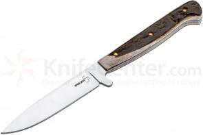 Boker Plus Stag Scout Fixed 4 inch Blade, Stag Handles (02BO5721)