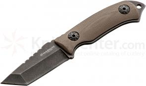 Boker Magnum Lil Friend Clip Tanto Neck Knife 2 inch Blade, Tan G10 Handles (02SC741)