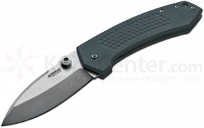 Boker Jens Anso Solo Folding 3-3/4 inch N690BO Stonewashed Blade, Anodized Aluminum Handles (110633)