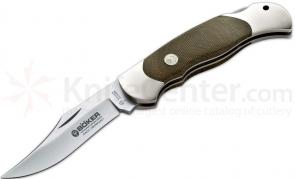 Boker Optima Green Canvas Micarta Folding Knife 3-3/8 inch Blade