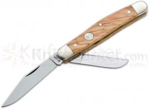 Boker Evergreen Series Special Edition Stockman with Olive Wood Handle 4 inch Closed