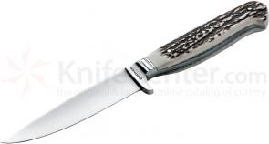 Boker Nicker 11 Fixed 4-3/8 inch Blade, Stag Handles (120534)