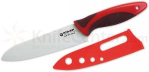Boker Ceramic Santoku (Santuko) Knife 6 inch White Blade, Red Delrin Handle (130C11)