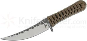 Borka Blades Custom SBK Fixed 5 inch M390 Borka Patterned Blade, Ray Skin/Coyote Brown Paracord Handle, Black Kydex Sheath