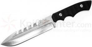 Brous Blades Coroner Fixed 6.25 inch Satin D2 Blade, G10 Handles, Kydex Sheath