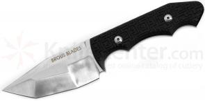Brous Blades Triple Threat Fixed 3.6 inch Satin D2 Tanto Blade, G10 Handles, Kydex Sheath