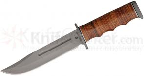 Browning Black Label Point Blank Fixed 6 inch 440 Stainless Steel Blade, Stacked Leather Handle